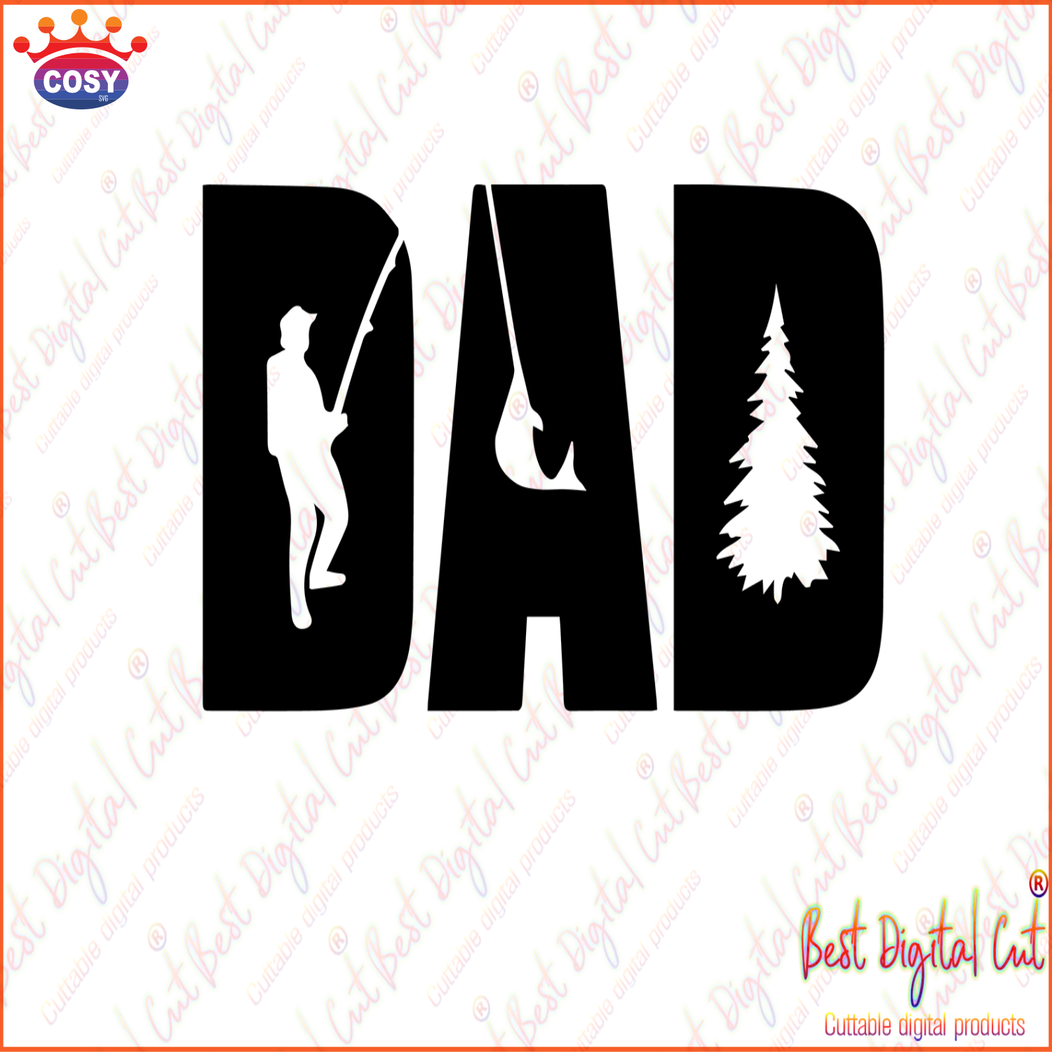 Download Dad Fishing Fathers Day Gift Happy Fathers Day Love Father Father Gift Fathers Day Shirt Gift For Father Happy Fathers Day Gift Daddy Svg Papa Svg Best Dad Cosysvg Com
