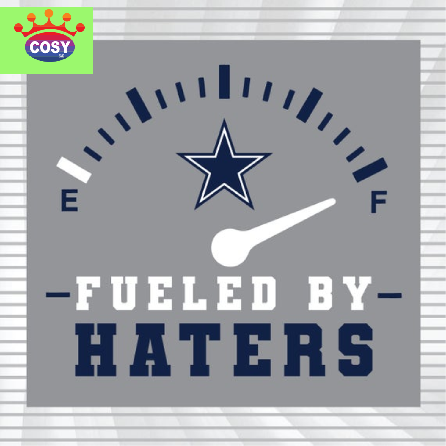 Dallas Cowboys Fueled By Haters Svg Nfl Lover Svg Cosysvg Com